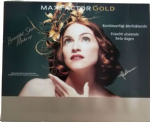 "MAX FACTOR GOLD SKIN MAKE UP - SWEDEN PROMO DISPLAY BOARD (19"" x 16"")"